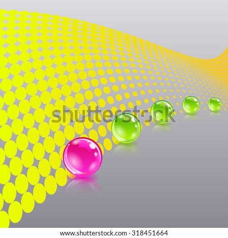 Abstract background with balls - stock vector
