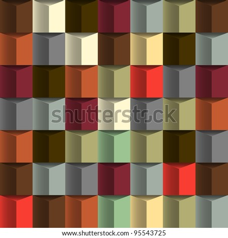 Abstract background with blocks structure.Vector seamless - stock vector