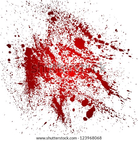 Abstract background with blood splatters - stock vector