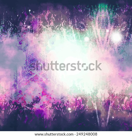 Abstract background  with blots and rays of light - stock vector