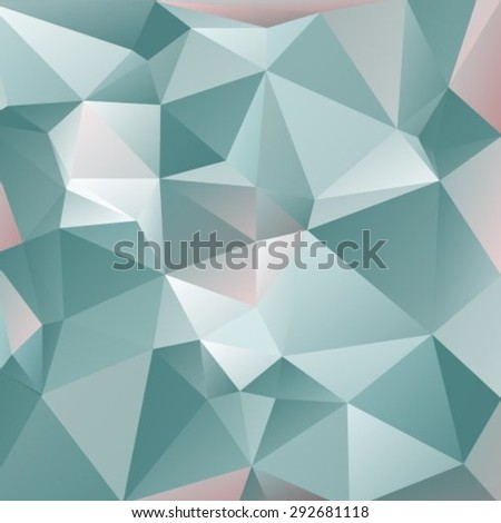 Abstract background with blue and  gray triangles.
