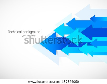 Abstract background with blue arrows - stock vector