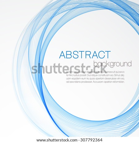 Abstract background with blue circles - stock vector