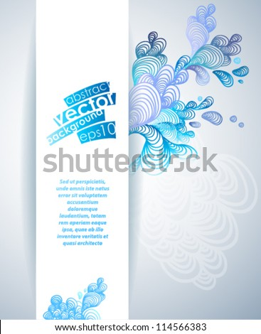 Abstract background with blue elements