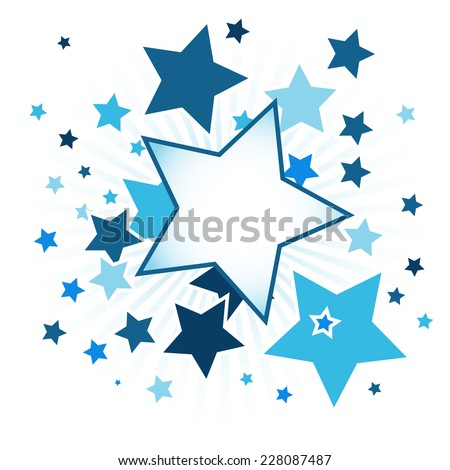 Abstract background with blue stars