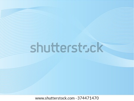 Abstract background with blue wave - stock vector