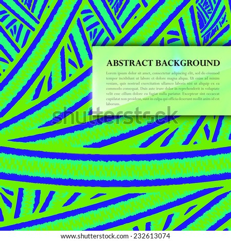 Abstract Background with blurred glassy banner. - stock vector
