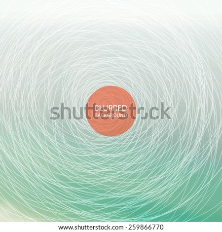 Abstract Background with Blurred Image - Turquoise - stock vector