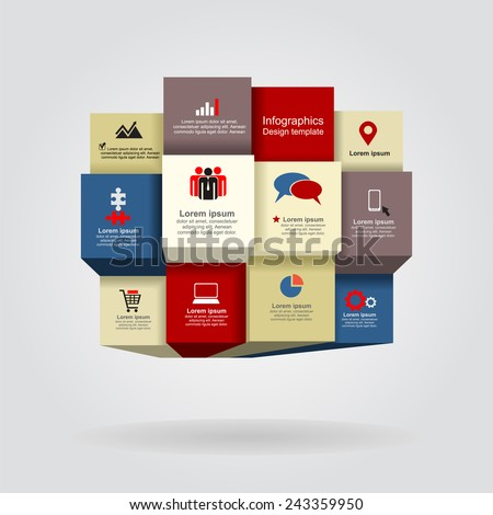 Abstract background with boxes. Vector illustration Eps 8. - stock vector