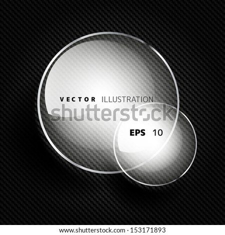 Abstract background with carbon texture and geometric elements