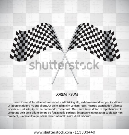 Abstract background with checkered flags - stock vector