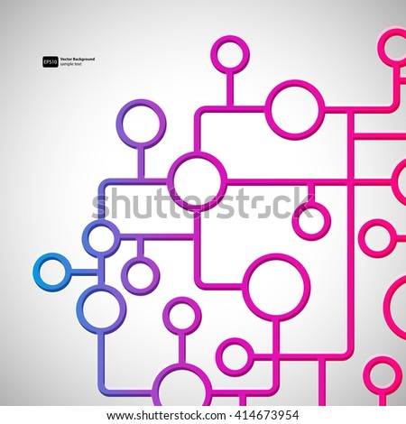 Abstract background with circles and lines design elements. - stock vector