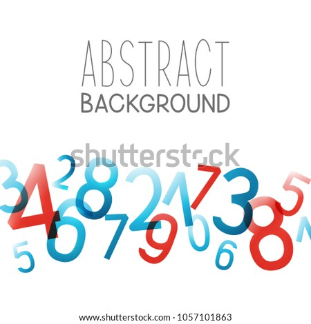 abstract background with color numbers - Color Numbers