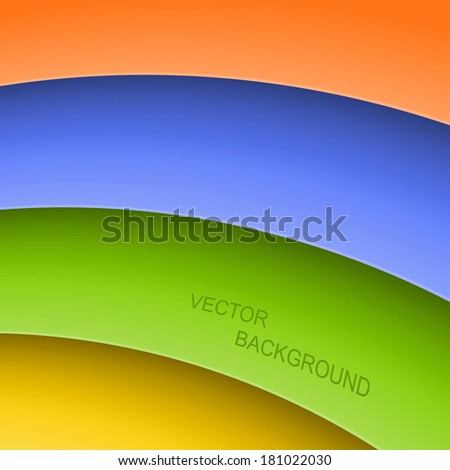Abstract background with color stripes. Vector illustration