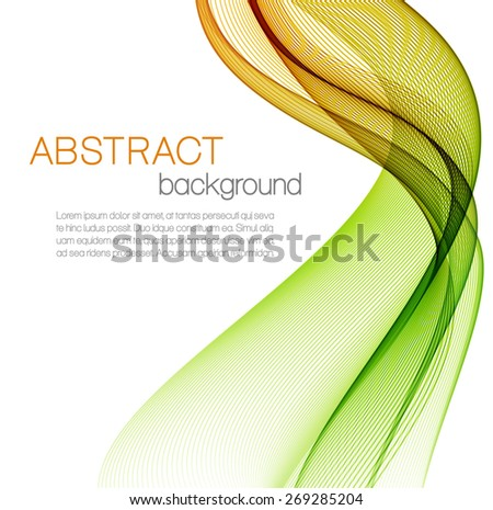 Abstract background with color waves - stock vector
