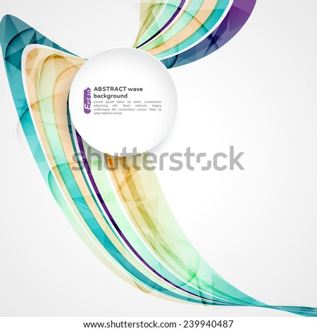 Abstract background with color waves, can be used for business presentations, flyer, website background, brochure cover