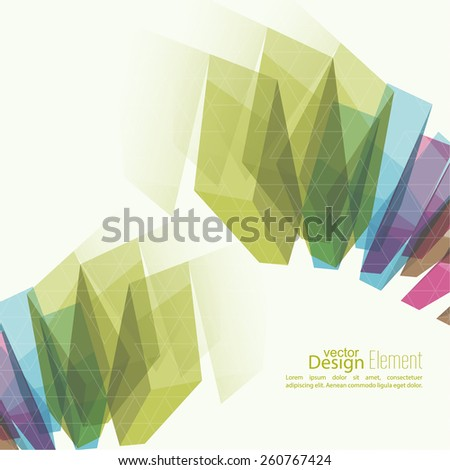 Abstract background with colored crystals, trellis structure. For cover book, brochure, flyer, poster, magazine, booklet, leaflet, cd cover design,  mobile app, annual report template - stock vector