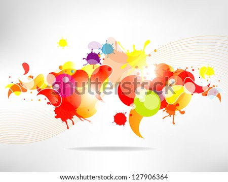Abstract  background with colored elements