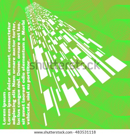 Abstract background with colored squares. Abstract wave. Vector illustration.