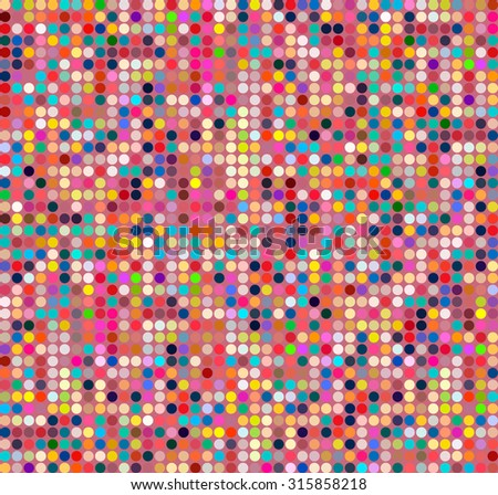 Abstract background with colored squares. Vector texture