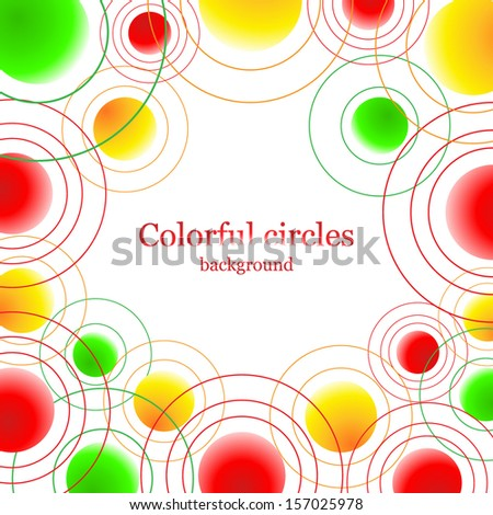 Abstract background with colorful balls on white. For banners, backgrounds, cards, etc