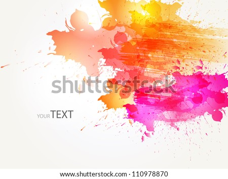 abstract background with colorful  blots