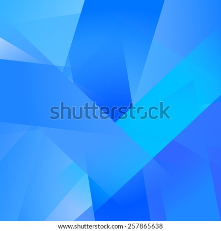 Abstract background with colorful blue overlapping transparent layers - stock vector