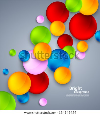 Abstract background with colorful bubbles - stock vector