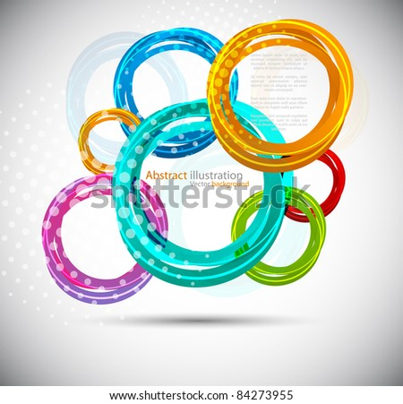 Abstract background with colorful circles - stock vector