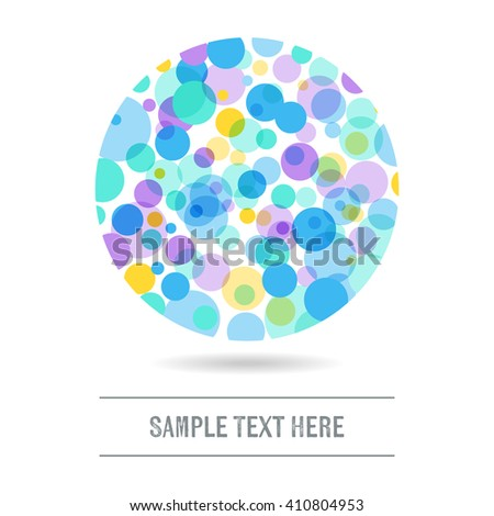 Abstract background with colorful circles and text place