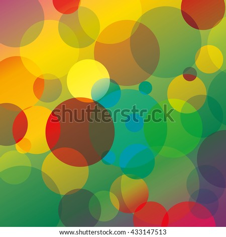 abstract background with colorful circles, EPS 10