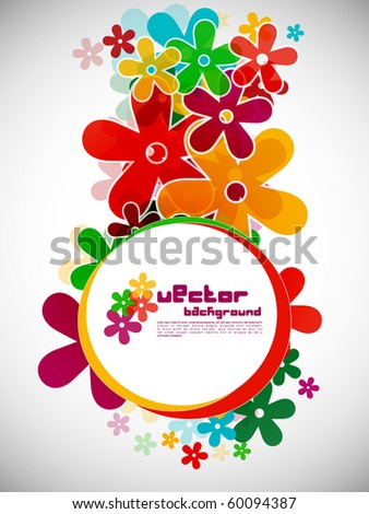 Abstract background with colorful design of flowers, vector illustration. - stock vector