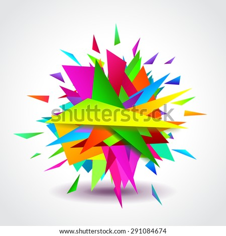 Abstract background with colorful geometric shapes, vector - stock vector
