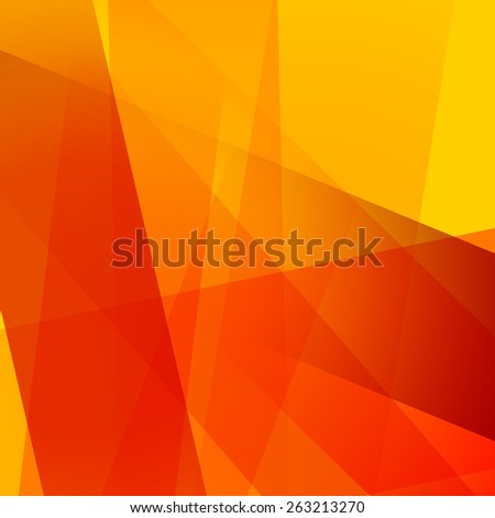 Abstract background with colorful orange overlapping transparent layers - stock vector