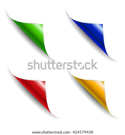 Abstract background with colorful paper