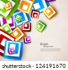 Abstract background with colorful squares - stock vector
