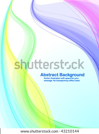 Abstract background with colorful transparent waves. Vector illustration in RGB colors. - stock vector
