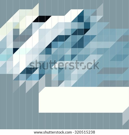 Abstract background with colorful triangle and copy space - stock vector