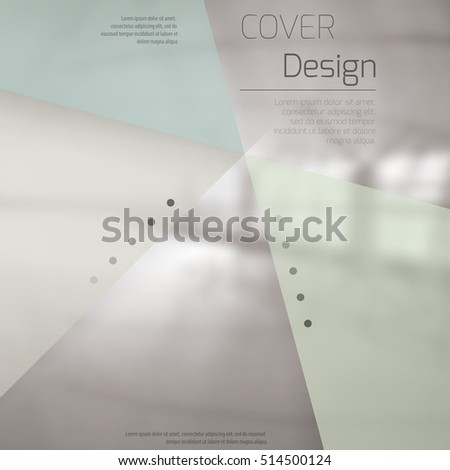 Abstract background with colorful triangles and space for text over stylish blurred image. Texture for covers, banners, booklets, etc. Background texxture for web or printed media.