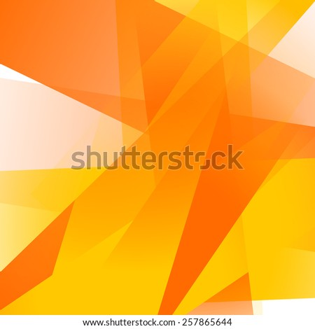 Abstract background with colorful yellow overlapping transparent layers - stock vector