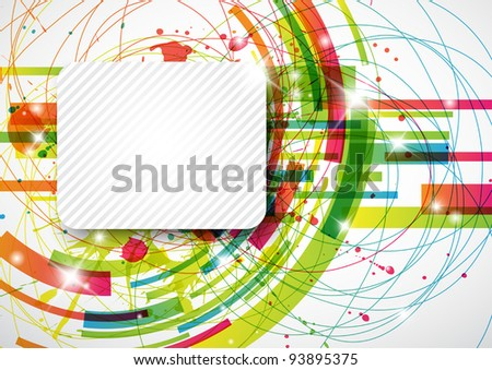 Abstract background with copy space - stock vector