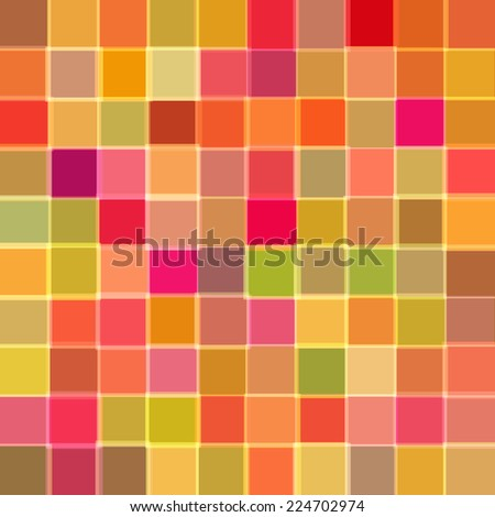 Abstract background with cubes of red color. Vector - stock vector