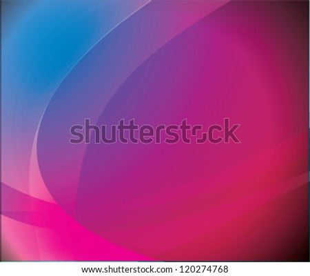 Abstract background with curved waves - stock vector