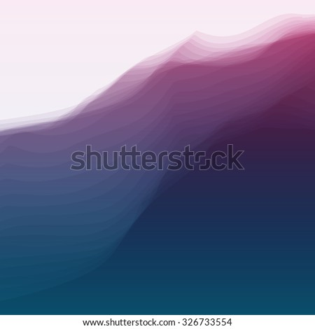 Abstract Background With Curves Lines. Vector Silhouettes Backgrounds. Can Be Used For Banner, Flyer, Book Cover, Poster, Web Banners. - stock vector