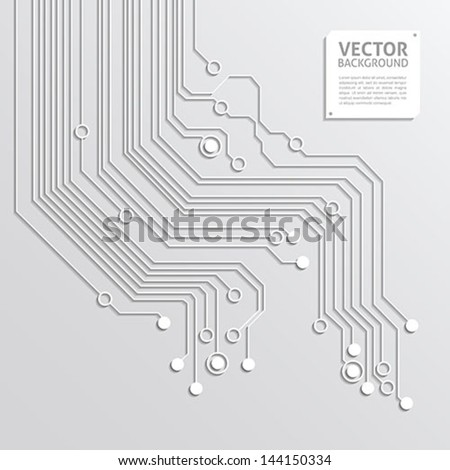 abstract background with 3d circuit board texture - stock vector