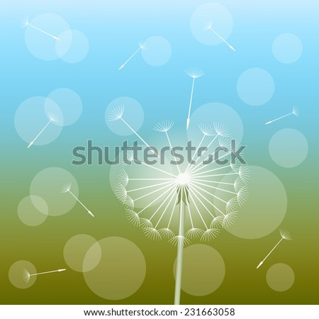 abstract background with dandelion