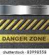 Abstract background with danger warning, vector. - stock photo