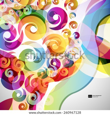 abstract  background with design elements. vector