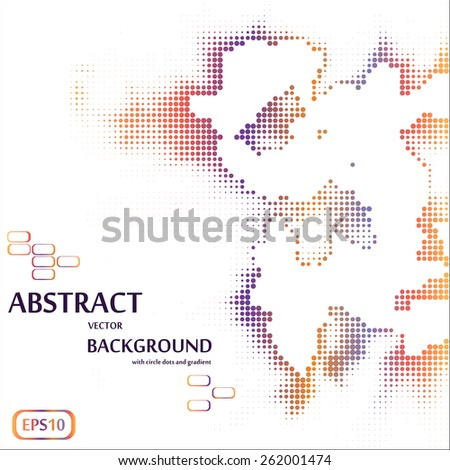 Abstract background with different dots halftones. eps10 - stock vector