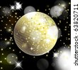 Abstract background with disco ball. Vector eps10 illustration - stock vector